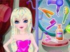 Unsere schöne Prinzessin Tania nimmt große Freude bei der Pflege ihrer Haare.