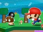 Es ist eine große Herausforderung für Mario. Er wird eine Bombe Menschen. Er