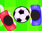 Fußballspiel mit zwei Spielern. Es dauert 7 Tore, um zu gewinnen. Spiele es mi