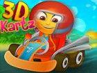Rennen mit schnellen kartz in diesem 3D-Spiel m...