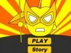Gelb Super Appleman ist die Mumie Appleman, die ruhig und vorsichtig ist. Speer