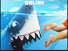 Spielen Sie als Angry Shark, während er durch die Küste streift. Zers