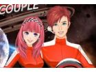Das Ehepaar Astronaut ausgewählt ist unter den Hunderten Menschen, und sie mit