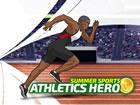 Wählen Sie Ihren Helden und treten Sie im 100-Meter-, Speer- und Dreisprun