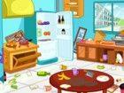 Clean up Küche ist ein Spiel zu helfen, mommy, um die Küche zu reinigen. Die
