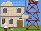 Sie bauen den Turm von Babel, der bis zum Hi...