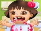 Dora Baby ist hier in diesem neuen Zahnarzt-Spiel und Sie müssen, um ihre Zäh