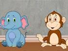 Stellen Sie sich vor, Sie haben ein Haustier Baby Gorilla in Ihrem Haus. Sehr b