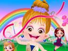 Baby Hazel hat eine hervorragende Gelegenheit, das Märchenland zu erkunden