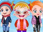 Hurra! Eine Winter-Modenschau wird von Baby Hazels Vorschule organisiert. Liebl
