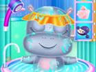 Unser Baby Hippo bleibt alleine zu Hause! Komm und hilf auf ihn aufzupassen! Si