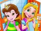 Wake früh auf und helfen Rapunzel und Belle mit diesem Spiel Disney Schule, i