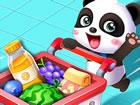 Willkommen im größten Supermarkt der Stadt! Baby und Mama Panda m&uu