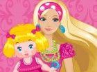 Hilfe Barbie Pflege des Babys nehmen. Damit das Baby glücklich müssen Sie ein