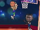 Spielen Sie ein lustiges Basketballspiel. Es ist ein Eins-zu-Eins-Spiel. Versuc