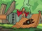 Bearcat ist in einem alten verlassenen Boot gefangen und kann von dort nicht en