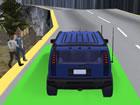 Bergauf Jeep Fahren ist eine typische Autofahrsimulation mit 3D-Game-Art-Animat