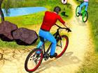Bergauf Offroad Fahrradfahrer ist am besten für die Aufrechterhaltung der