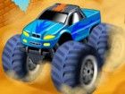 Rennen mit dem großen Monster Truck, um den Weg zurück nach Hause finden. Ver
