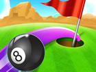 Bereiten Sie sich auf ein lustiges Golf- und Billardspiel vor. Golf und Billard