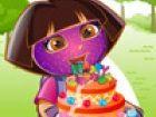 Dora the Explorer ist in einer glücklichen Stimmung. Können Sie erraten, waru