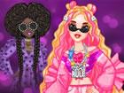 Der Stil von Blondie Extra ist mutige Mode und leuchtende Farben sowie ein laut