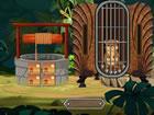 Dieser niedliche braune Otter eingeschlossen innerhalb eines Käfigs. Sie m