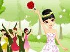 Die Hochzeit endet und die ledig Gör Gäste sind begeistert, der Blumenstrauß