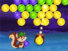 Bubble Woods ist ein Spiel mit Blasen. Sie können mit der Maus klicken, di