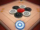 Carrom Spiel ist ein Streikund Taschenspiel, das Billard oder Pools ähnelt