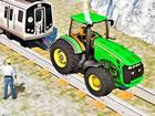 Hängen Sie Ihren Traktor an die Lokomotive und ziehen Sie daran. Ziehen Si