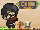 HTML5-Plattform-Abenteuerspiel, in dem der kleine Chibi Hero das Schattental du