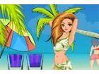 Strand-Saison eröffnet, und Cindy begann in ihrer freien Zeit am Strand entspa