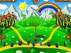 Fortsetzung von Coco Haar Tower Defense Spiel! Bauen Sie Obst Hülsen und Obst