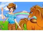 Coole Mädchen und Pferd ist ein lustiges Spiel für Mädchen Kleid. Dieses coo