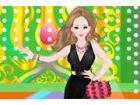 Sofia wird ein Gala-Dinner zu besuchen, so hat sie ein elegantes Kleid zu trage