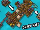 Craft Raft Battle ist ein .io Spiel, mit dem Sie Ihr Floß herstellen und