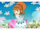 Dieser niedliche Blume Elf della liebt es zu spielen, um mit Schmetterlingen, B