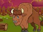 Der Bison ist in einer Scheune gefangen und du musst dem Bison helfen, da rausz