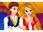Die Zauberin Schloß Rapunzel in einem Turm mit...