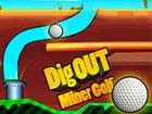 Grabe und grabe mit deinen Fingern und führe deinen Golfball zum Loch. Ein