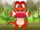 Der kleine Dino sind hungrig. Sie brauchen viel Fleisch auf den Magen vor dem H