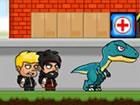 Im DinoZ City-Spiel musst du die Dinosaurier beseitigen, die die Stadt übe