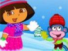 Dora und Boots will in diesem Winter heiß, indem er an der Winter zu mach