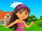 Es ist das Ende Schulalltag. Dora Vorbereitung für ihre letzten Tag der Sc