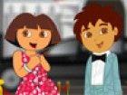 Dora und Diego haben, um für einen roten Teppich Show fertig. Machen sie s