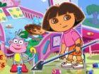 Dora und Boots wurden nach Hause zurückkehren nach dem Besuch ihre Freunde sta