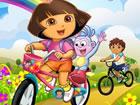 Dora und Diego Rennen: Dora und Diego stehen sich in diesem extremen BMX-Rennen