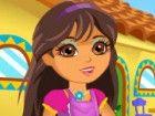Helfen Sie Dora zu ihrem Haus zu reinigen und schmücken sie für die Partei. I