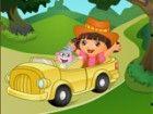Dora hat ihr Haustier Affen verloren. Versuchen Sie Ihre Hände auf dieser
